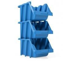 Gaveta Plástica Prática Empilhável Nº7 Azul Com 14 Gavetas - Presto industrial