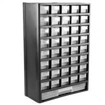 Gaveteiro caixa organizador plastico 41 gavetas 300x490x138mm profissional black jack - Black jack