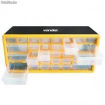 Gaveteiro organizador plastico 30 gavetas profissional mesa ou parede vonder - Vonder