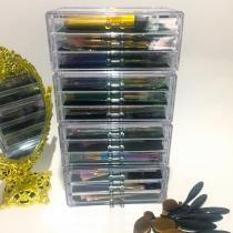 Gaveteiro para Escritorio e Maquiagem com 12 Gavetas de Acrilico - Organizador 11 - Makesterapia store