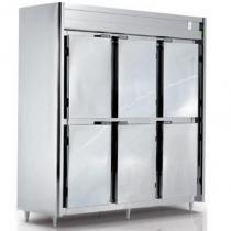 Geladeira comercial 6 portas em inox refrigel - Refrigel