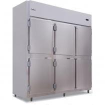 Geladeira/Refrigerador Comercial Inox 6 Portas Cegas RF-067 Frilux -