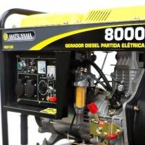 Gerador 8000 Diesel Trifásico 220V 13 HP Partida Elétrica Matsuyama - Matsuyama