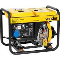 Gerador à diesel 7hp 127/220 volts 4 tempos manual gdv3600 - Vonder -
