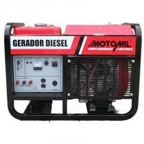 Gerador De Energia A Diesel 12000W Trifásico 380V (220V Mono) 12 Kva - Motomil Mdg-12E - MOTOMIL