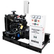 Gerador de Energia a Diesel, 65 kVA, Trifásico, Motor de 4 Cilindros - Partida Elétrica Aberto - ND6 - Nagano