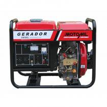 Gerador De Energia A Diesel De 2200W Bivolt - 2,2 Kva - Motomil Mdg-2200Cl - MOTOMIL