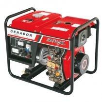 Gerador De Energia A Diesel De 5000W Bivolt Partida Elétrica - 5 Kva - Motomil Mdg-5000Cl - MOTOMIL