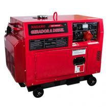Gerador de Energia a Diesel Silenciado 6.8 KVA Trifásico Partida Elétrica - ND7100ES3D - Nagano