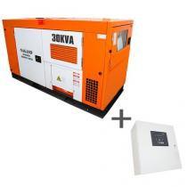 Gerador de Energia a Diesel Trifásico 30 kva com QTA Nagano incluso - ND30000ES3QTA - Nagano