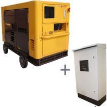 Gerador de Energia a Diesel Trifásico Silenciado 21 kva partida elétrica 220 / 380v com QTA - NDE19S - Nagano