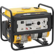 Gerador de energia à gasolina potência de 3 hp monofásico 4 tempos - GGV 1000 (110V) - Vonder