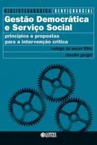 Gestao democratica e servico social - 9788524924996 - Cortez editora