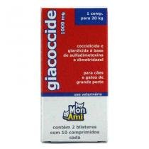 Giacoccide 1000mg 20 comp Mon Ami Giardia Cães - Mon ami - pharmalogic