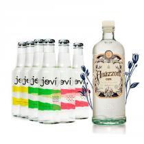 Gin Amázzoni 750ml + Ice Jovi Sabores x6 275ml -
