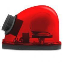 Giroflex Sinalizador Luz Emergência 12V Com Sirene Tech One T1GFCSVM Vermelho -