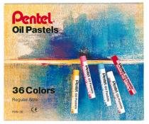 Giz De Cera 36 Cores Pastel Oleoso Phn-36 Pentel - 1