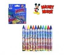 Giz de cera com 12 cores revestidos e personalizados - mickey - Etipel