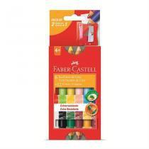 Giz De Cera Ecogiz 6 Gizes 12 Cores Faber Castell - Faber-castell