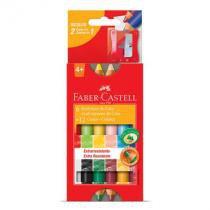 Giz de cera ecogiz - HT141412 - com 12 cores - Faber-Castell -