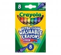 Giz de Cera Lavavel 8 Cores Crayola -
