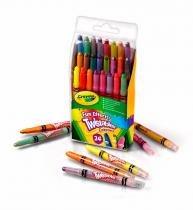 Giz de Cera Mini Twist 24 Cores Efeito Especiais Crayola -