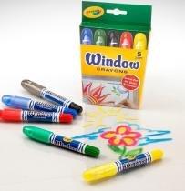 Giz de Cera para Vidro 5 Cores Lavavel Crayola -