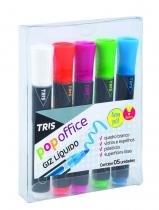 Giz Liquido Pop Office 5 cores Tris - Tris