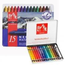 Giz pastel oleoso aquarelável caran dache neocolor ii com 15 cores - 7500.315 - Carandache