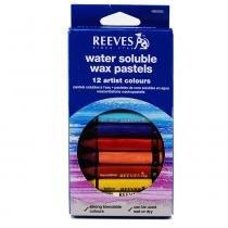 Giz pastel oleoso aquarelável reeves com 12 cores - 4890585 -