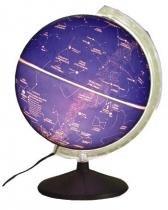 Globo Celeste Libreria CIELO, 30 cm de diâmetro, base de Ferro, iluminação interna 220v, principais constelações e estrelas -