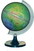 Globo Luar Libreria Lua Colorido, 220v, Iluminado 21cm de diâmetro, base Plástico, Principais Crateras. -