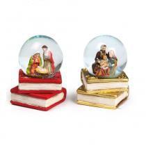Globo Presépio Sagrada Família Decoração Natal Vermelha - Cromus