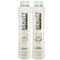 Gold Plus Beauty Progress Escova Progressiva Shampoo 500ml e Redutor de Volume 1L -