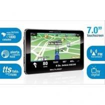 "GPS 7"" com TV Digital, Touch Screen, Funções MP3/MP4, Indicador de Velocidade, FM -  GP015 - MULTILA - Multilaser"