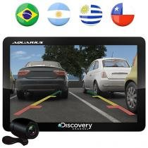 "GPS Automotivo Aquarius Discovery Channel Slim - Tela 4.3"" Touch TV Digital com Câmera de Ré"