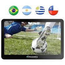 "GPS Automotivo Aquarius Discovery Channel Slim - Tela 7"" Touch TV Digital Mapas 3D"
