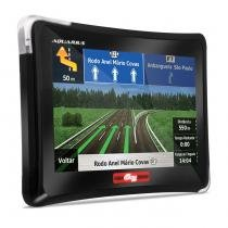 GPS Automotivo Aquarius Guia Quatro Rodas 4.3 Polegadas MP3 USB SD AUX 3D Alerta Radar - Aquarius