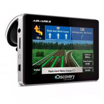 GPS Automotivo Discovery Channel Tela 4.3 Slim Touch Screen com TV Digital -