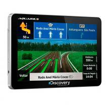 Gps automotivo discovery channel tela 5.0 slim touch screen com tv digital - Discovery
