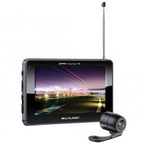 "Gps automotivo multilaser tracker 2 tela 4,3"" tv câmera ré -"