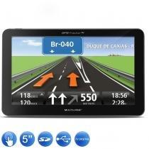 GPS Automotivo Multilaser Tracker GP037 5 Polegadas TV USB + Câmera Ré - Multilaser