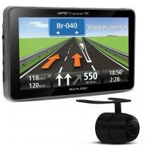 GPS Automotivo Multilaser Tracker TV GP039 7 Pol TV USB SD MP4 3D FM Alerta Radar + Câmera de Ré - Multilaser
