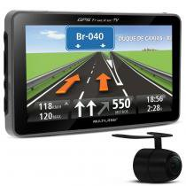 GPS Automotivo Multilaser Traker 4.3 Polegada TV Digital USB SD Câmera Ré - Multilaser