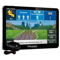 """GPS Discovery Channel 4.3"""" TV Digital e Câmera de Ré MTC3842 - Aquarius"""
