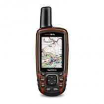 """GPS Esportivo Portátil Garmin GPSMAP 64s Preto e Laranja com Tela de 2,6"""" 4GB e Bluetooth -"""