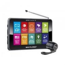 """GPS Multilaser Tracker III GP037 com Tela de 5"""" e Orientação por Voz, Câmera de Ré, TV Digital e Transmissor FM - Preto - Multtilaser"""