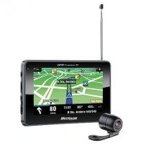 GPS Multilaser Tracker III Tela 4.3 Transmissor FM e Camera de RE GP035 -