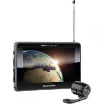 "GPS MultilaserTracker 3, Preto, GP039, Tela de 7"", 2GB, Câmera de Ré - Multilaser"