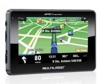 """GPS Tracker 4.3 Multilaser GP033 - Tela touchscreen 4.3"""", Função TTS (Fala o nome das ruas durante as manobras), alerta de radares fixos -"""